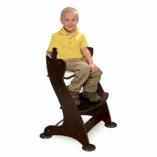 Embassy Wood High Chair with Tray - Espresso Perspective: top