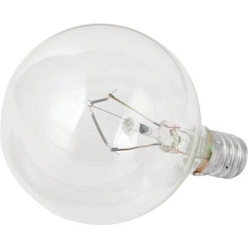 Philips DuraMax 60-Watt Candelabra Base G16 Globe Light Bulbs Perspective: top