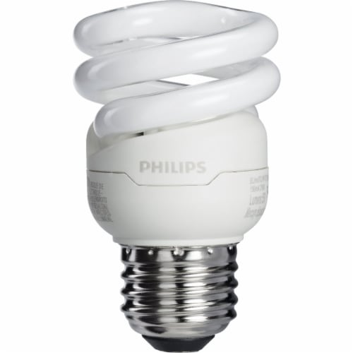 Philips 4pk 9w T2 Swmed Cfl Bulb 417063 Perspective: top