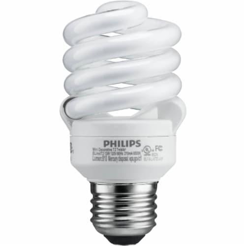 Philips EnergySaver 13-Watt (60-Watt) Medium Base CFL Light Bulbs Perspective: top