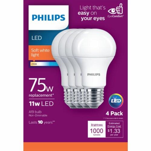 Philips 11-Watt (75-Watt) A19 LED Light Bulbs Perspective: top