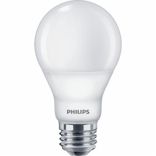 Philips Soft White 8.5-Watt (60-Watt) Dimmable A19 LED Light Bulbs Perspective: top