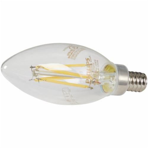 Philips 3.3-Watt (40-Watt) Candelabra Base Blunt Tip Candle B11 LED Light Bulbs Perspective: top