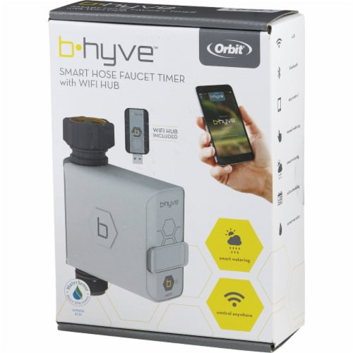 Orbit B-hyve Smart Programmable 1 zone WiFi Hose Faucet Timer - Case Of: 1; Perspective: top