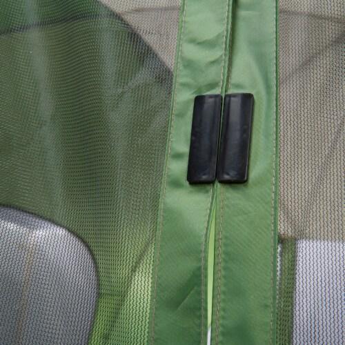 Wenzel Durango 120 Square Foot Magnetic Door Screen House Dome Tent, Green Perspective: top