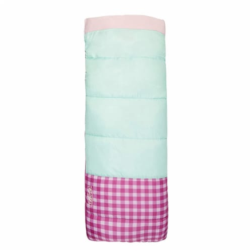 Wenzel Sapling 40 - 50 Degree Fahrenheit Kids Camping Sleeping Bag, Youth (Pink) Perspective: top