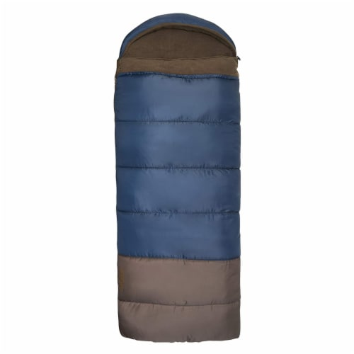 Wenzel Monterey 30 to 40 Degree Fahrenheit Hooded Camping Sleeping Bag, Adult Perspective: top