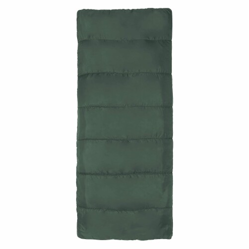 Wenzel Cascade 40 to 50 Degree Fahrenheit Camping Sleeping Bag, Adult (Green) Perspective: top
