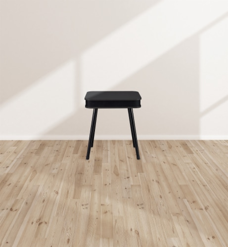 Square Speaker End Table - Black Perspective: top