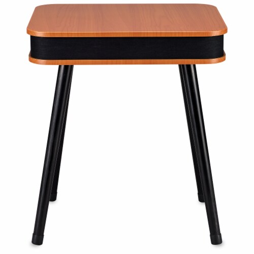 Square Speaker End Table - Brown Perspective: top