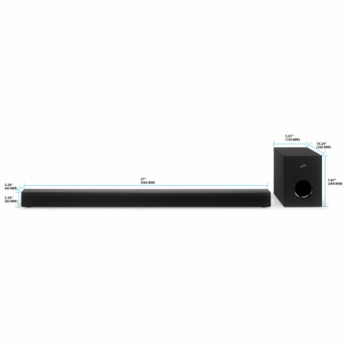 iLive ITBSW99B Sound Bar System - Black Perspective: top