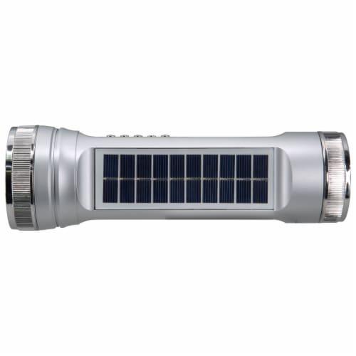 Weatherx Bluetooth Speaker Flashlight - Silver Perspective: top