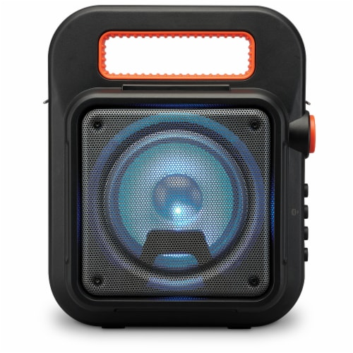 iLive ISB309B Tailgate Bluetooth Speaker - Black/Orange Perspective: top
