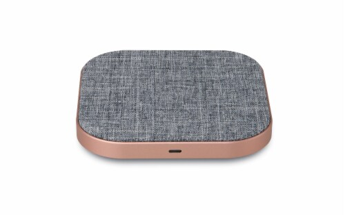 iLive Wireless Charger - Rose Gold Perspective: top