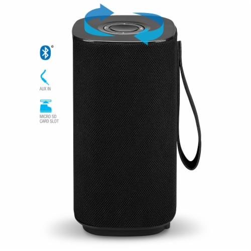iLive Portable Bluetooth Speaker - Black Perspective: top