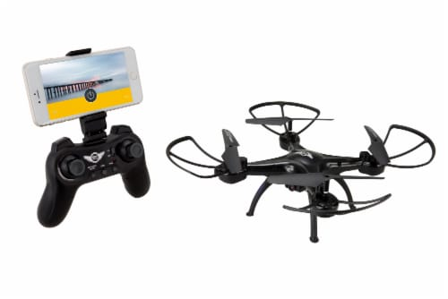 Sky Rider Quadcopter Drone - Black Perspective: top