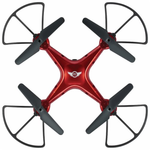 Sky Rider Quadcopter Drone - Red Perspective: top