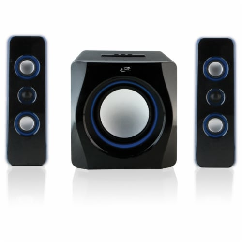 iLive Wireless Bluetooth 2.1 Speaker System & Subwoofer Perspective: top