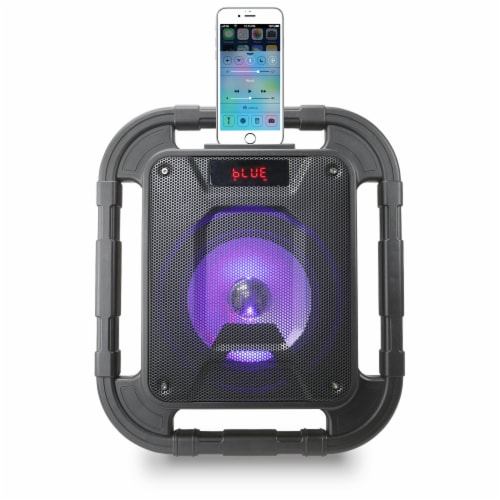 iLive Bluetooth Tailgate Speaker - Black Perspective: top