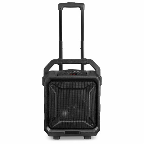 iLive Portable Bluetooth Tailgate Speaker - Black/Silver Perspective: top