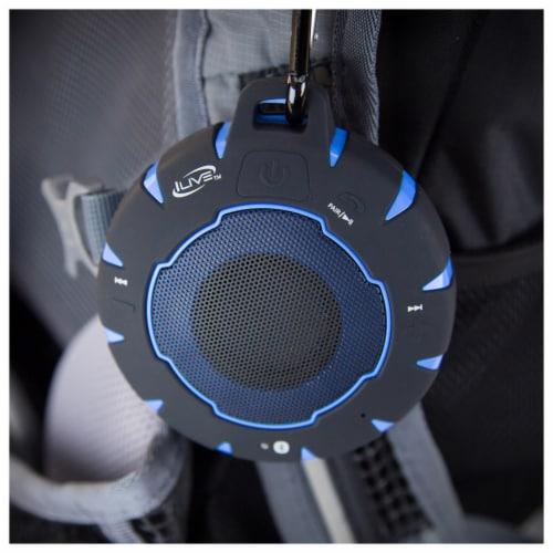 iLive Waterproof Wireless Speaker - Black/Blue Perspective: top