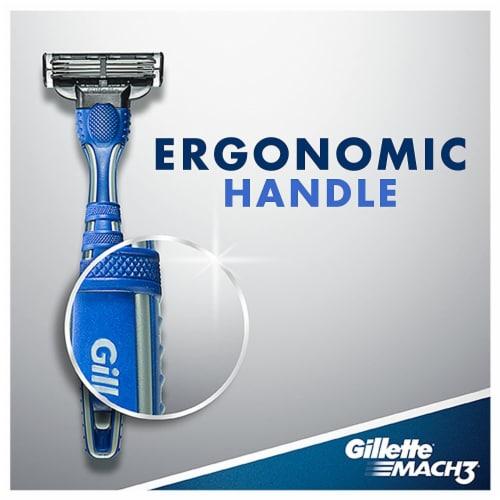 Gillette® Mach3 Men's Disposable Razors Perspective: top