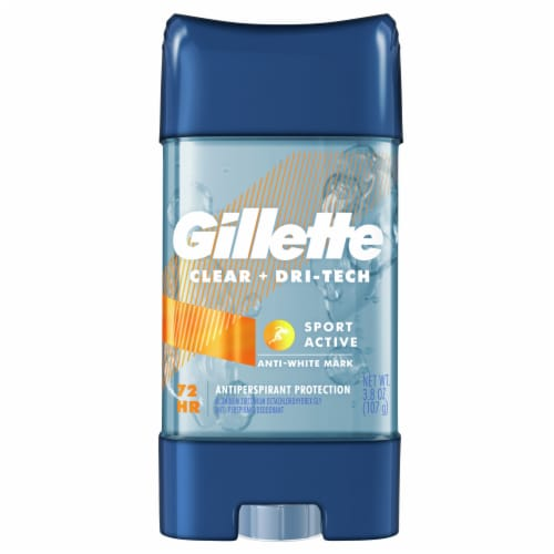 Gillette Clear + Dri-Tech Sport Active Clear Gel Antiperspirant/Deordorant Twin Pack Perspective: top