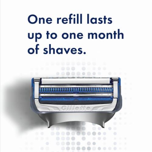 Gillette® SkinGuard Men's Razor Handle + 2 Blade Refill Cartridges Perspective: top