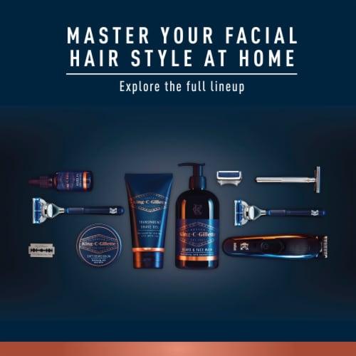 King C. Gillette Men's Transparent Shave Gel Perspective: top