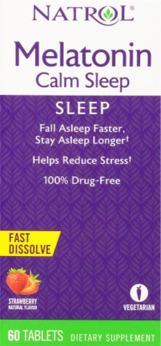 Natrol Advanced Melatonin Calm Sleep Strawberry Fast Dissolve Tablets Perspective: top