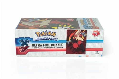 Pokemon XY VS Series Ultra Foil 100 Piece Jigsaw Puzzle Set   Includes 2 Puzzles Perspective: top