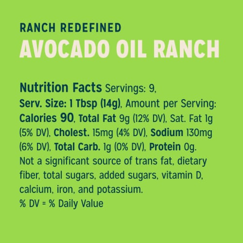Sir Kensington's Avocado Lime Ranch Dressing Perspective: top