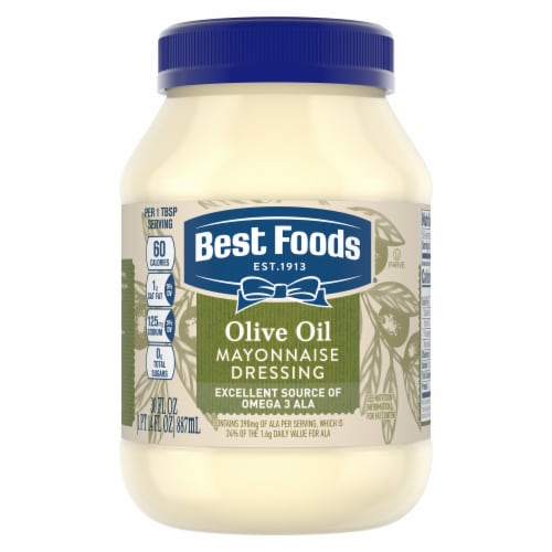 Best Foods Olive Oil Mayonnaise Dressing Perspective: top