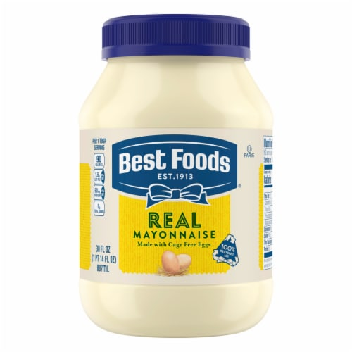Best Foods Gluten-Free Real Mayonnaise Condiment Perspective: top