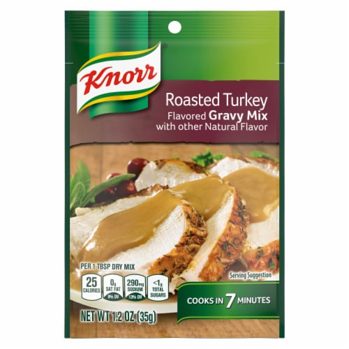 Knorr Roasted Turkey Flavored Gravy Mix Perspective: top