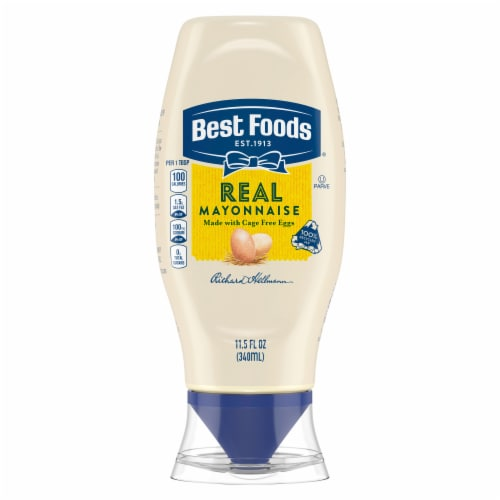 Best Foods Gluten-Free Real Mayonnaise Condiment Squeeze Bottle Perspective: top