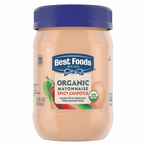 Best Foods Organic Spicy Chipotle Mayonnaise Perspective: top