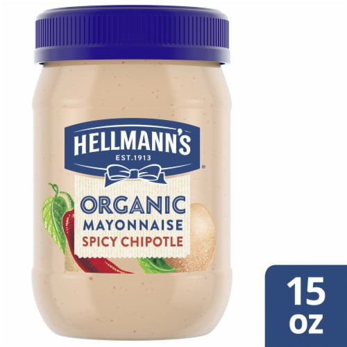Hellmann's Organic Spicy Chipotle Mayonnaise Perspective: top