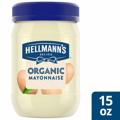 Hellmann's Organic Gluten Free Mayonnaise Perspective: top