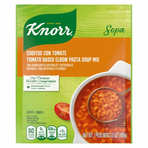 Knorr Tomato Based Elbow Pasta Soup Mix Perspective: top