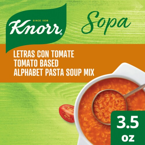 Knorr Tomato Based Alphabet Pasta Soup Mix Perspective: top