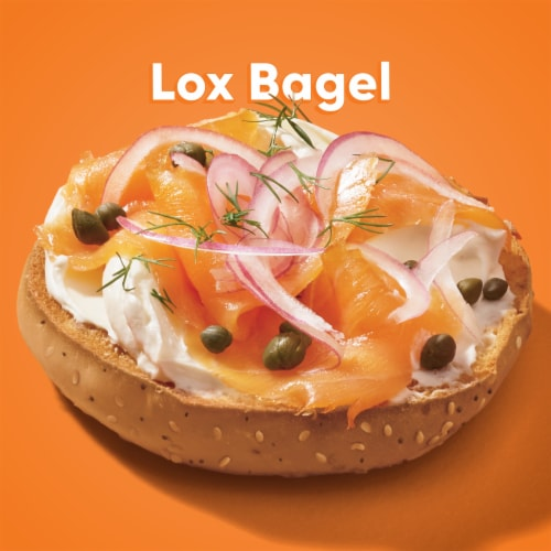 Thomas' Pre-Sliced Everything Bagels Perspective: top