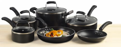 Tabletops Unlimited Basic Essentials Non-Stick Aluminum Cookware Set Perspective: top