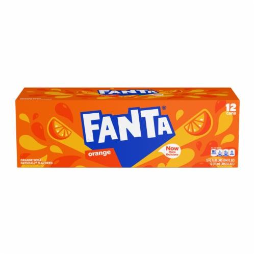 Fanta Orange Soda Fridge Pack Perspective: top