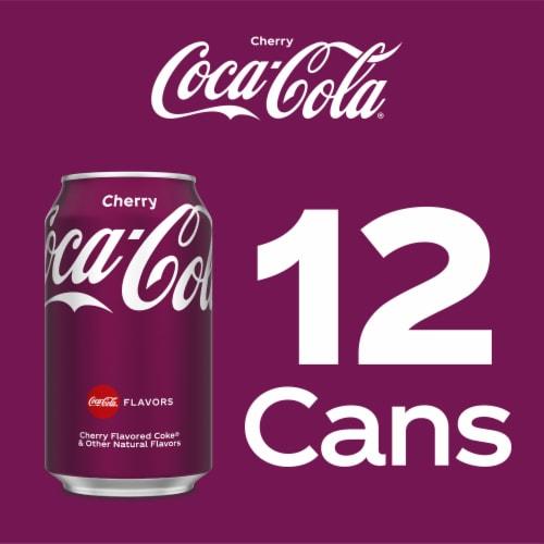 Coca-Cola Cherry Cola Soda Perspective: top