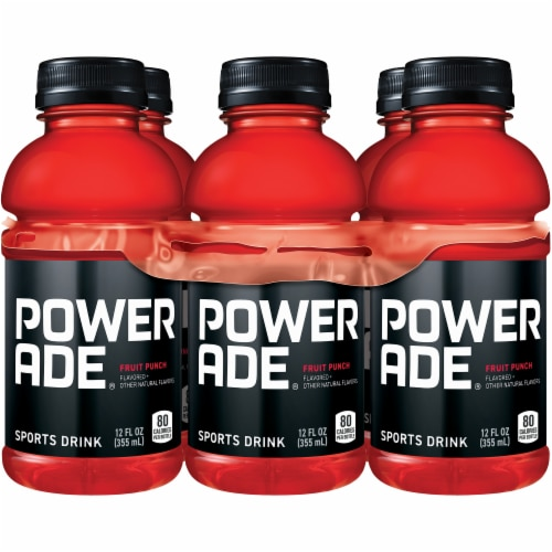 Powerade Fruit Punch Sports Drinks Perspective: top