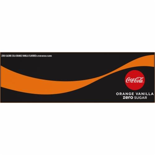 Coca-Cola Zero Sugar Orange Vanilla Cola Soda Perspective: top