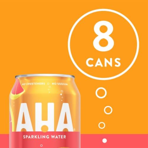 AHA® Orange + Grapefruit Sparkling Water Perspective: top