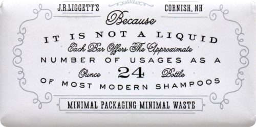 JR Liggett's Moisturizing Formula Old Fashioned Bar Shampoo Perspective: top