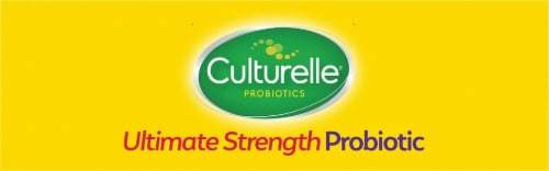 Culturelle® Extra Strength Digestive Health Probiotic Capsules Perspective: top